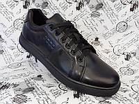 ECCO keds мужские кожаные прошитые кроссовки кеды