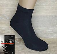 """Чоловічі шкарпетки середньої висоти """"Milano Socks"""". Чорного кольору. №012. (Роздріб)."""