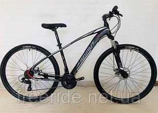 Подростковый велосипед Azimut Nevada 24 G-FR/D (15) черно-серый