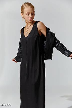Длинное шелковое платье, фото 2