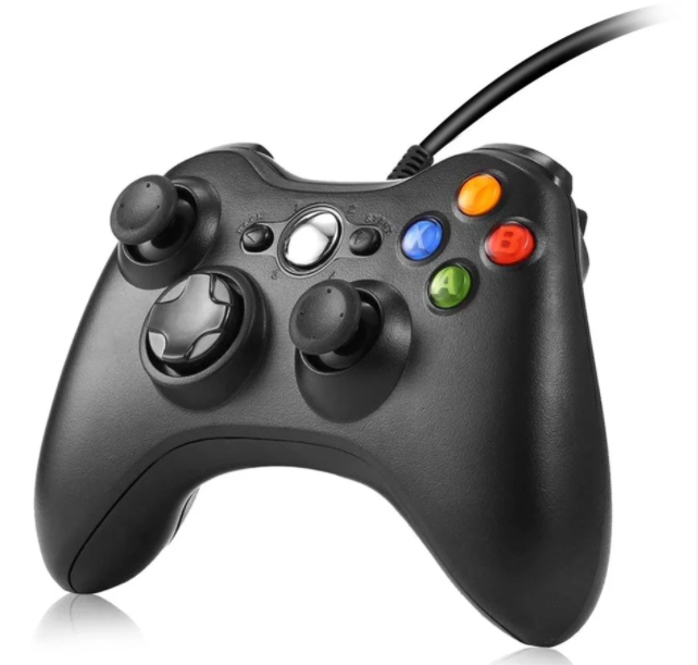 ОПТ Проводной джойстик геймпад Microsoft Xbox 360 + PC совместим с ПК Windows с 10 кнопками