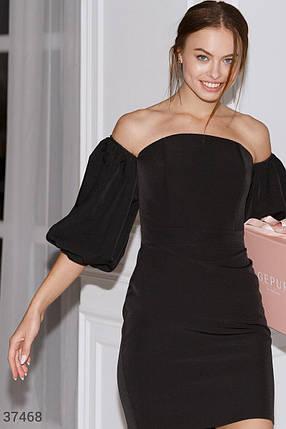 Черное платье с открытыми плечами, фото 2