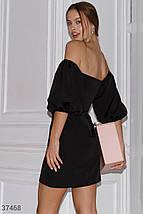 Черное платье с открытыми плечами, фото 3