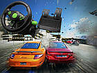 ОПТ Игровой руль Super Vibration Steering Wheel USB/PC/PS3 с педалями газа и тормоза и системой виброотдачи, фото 3