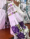 Вишиванка пишна фіолетова роза- масивна гладь🌸, фото 6