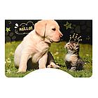 Детская парта со стульчиком Bambi B 2071-90-2(EN) Котенок и щенок ваниль**, фото 2