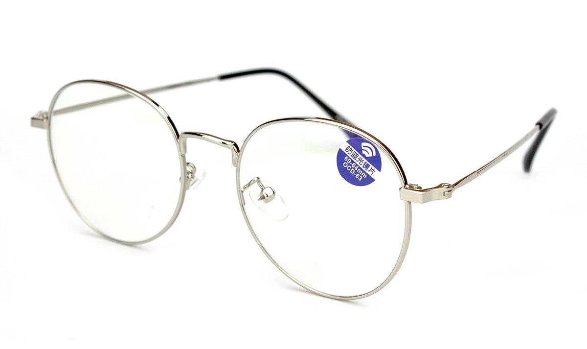Очки для компьютера из металла, очки компьютерные, в чёрной оправе, унисекс, в футляре, Новая линия
