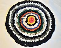 Плетений килимок ручної роботи для стільці або табуретки d38 см