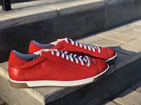 Шкіряні чоловічі кросівки Міда 111779 кр розміри 40,41,42,43,44,45, фото 1