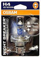 """Автомобильная галогенная лампа """"OSRAM"""" (H4)(Night Breaker Unlimited)(+110%)"""