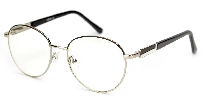 Очки для компьютера из металла, очки компьютерные, в чёрно-стальной оправе, унисекс, в футляре, Verse