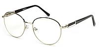 Очки для компьютера из металла, очки компьютерные, в чёрно-стальной оправе, унисекс, в футляре, Verse, фото 1