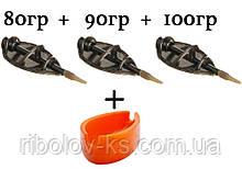 Набор кормушек Method Flat XL 80+90+100гр + пресс-форма