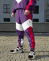 Спортивные штаны SPLIT мужские фиолетово-розовые