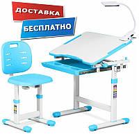 Детский стул-стол / Растущая парта Piccolino III Blue FunDesk