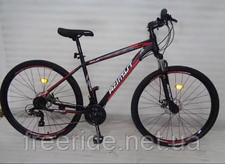 """Горный велосипед Azimut Aqua 27,5"""" G-FR/D (17) черно-красный"""