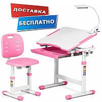 Детская парта со стульчиком трансформер Piccolino III Pink FunDesk