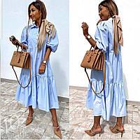 Женское красивое длинное легкое платье размер 42 44 46