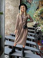 Женское красивое весеннее льняное платье