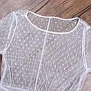 Пляжна туніка жіноча з сітки в горошок з воланами (р. S-L) 61256648, фото 9