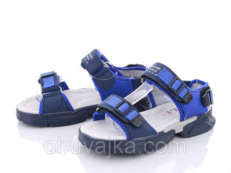 Детская летняя обувь 2021 оптом. Детские босоножки бренда CBT T для мальчиков (рр. с 31 по 36)