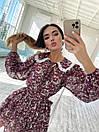 Цветочное платье с расклешенной юбкой и белым воротничком трендовое (р. S-M) 36032240, фото 2