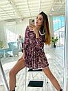 Цветочное платье с расклешенной юбкой и белым воротничком трендовое (р. S-M) 36032240, фото 4
