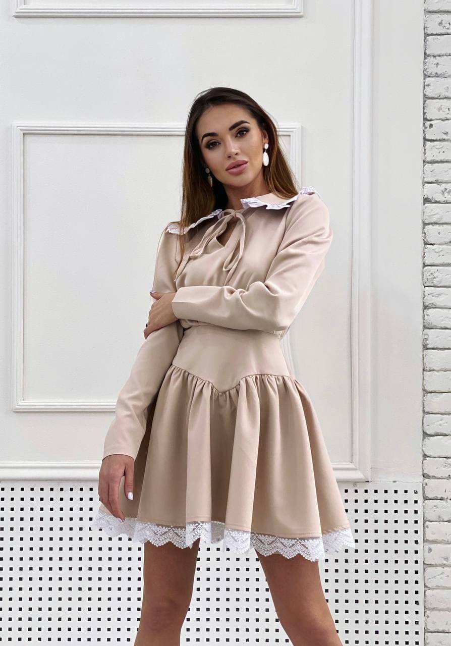Пишне плаття c білим комірцем і под'юбніком трендові (р. S-M) 36032243