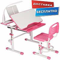 Детские парты столы и стулья регулируемые по высоте Cubby + Botero Pink