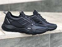 Шкіряні чоловічі кросівки Extreme 1209 чер розміри 40,41,42,43,44,45, фото 1
