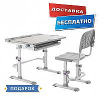 Детские парты столы и стулья регулируемые по высоте Cubby DISA GREY