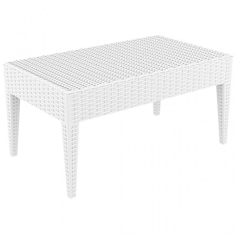 Столик садовый Miami Lounge Table Siesta, пластиковый, белый