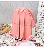 (4в1-як на фото)Рюкзак дівчина 4в1 тканина Оксфорд зроблений в Китай спортивний міської стильний опт, фото 7