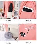 (4в1-як на фото)Рюкзак дівчина 4в1 тканина Оксфорд зроблений в Китай спортивний міської стильний опт, фото 9