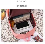 (4в1-як на фото)Рюкзак дівчина 4в1 тканина Оксфорд зроблений в Китай спортивний міської стильний опт, фото 10