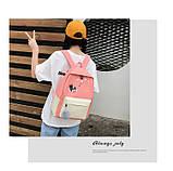 (4в1-як на фото)Рюкзак дівчина 4в1 тканина Оксфорд зроблений в Китай спортивний міської стильний опт, фото 3