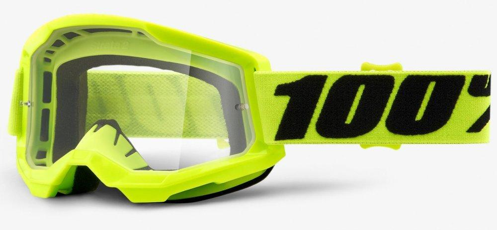 Мотоочки детские 100% STRATA II Youth Goggle Yellow - Clear Lens