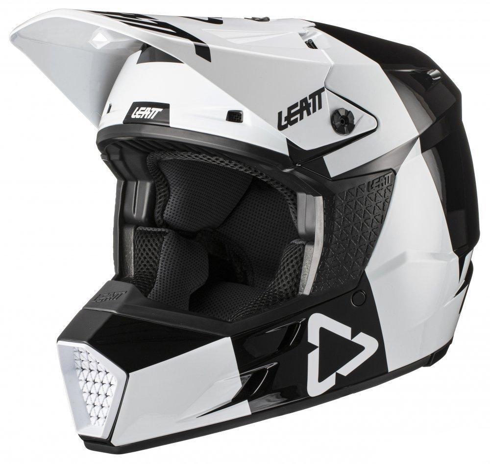 Мотошолом дитячий LEATT Helmet GPX 3.5 Jr V21.3 Black White L(p)