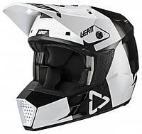 Мотошолом дитячий LEATT Helmet GPX 3.5 Jr V21.3 Black White L(p), фото 1
