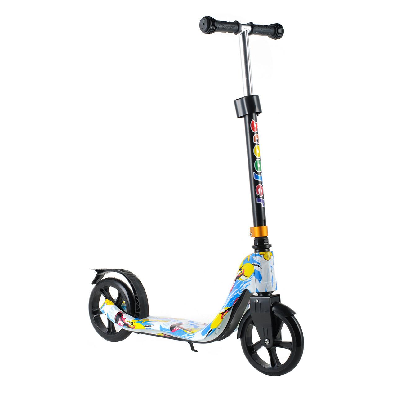 Двоколісний Самокат Scooter 280 для дітей від 5 років з PU колесами