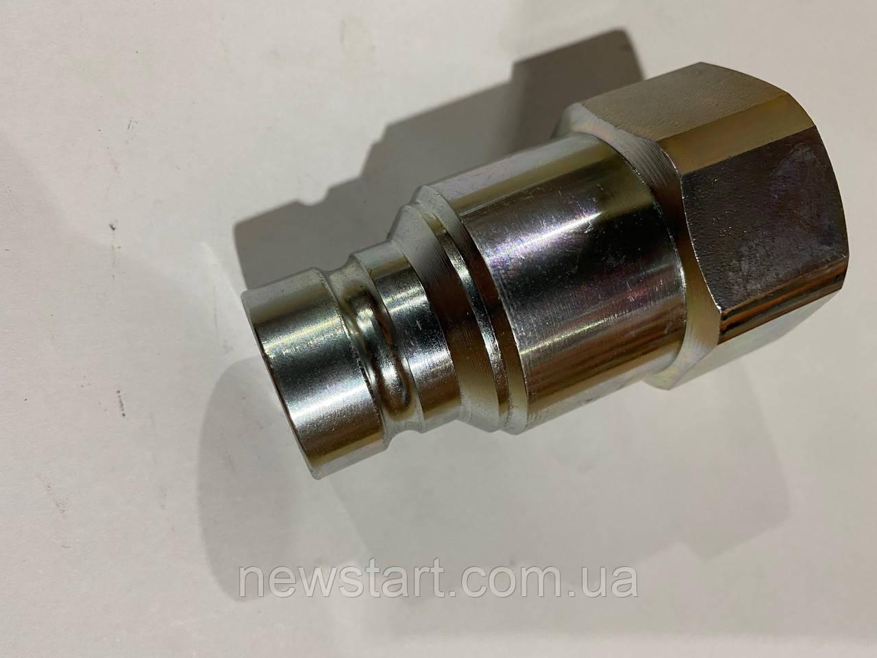 Быстроразъемное соединения ниппель (БРС) c плоским торцом ISO16028