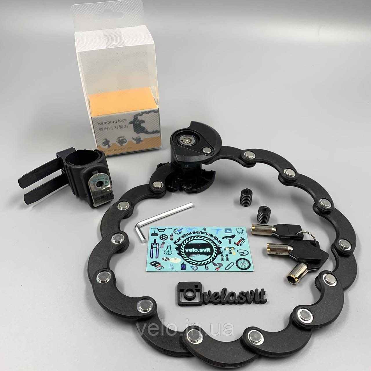 Пластинный складной велозамок  Bikight