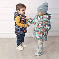 """Куртка-жилетка 2в1 демисезонна """"Spring"""" різні кольри.  Розміри 74,80,86,92, фото 1"""