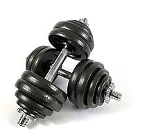 Комплект металевих гантелей NEO-SPORT - 30 кг розбірних із змінними дисками