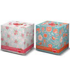 """Серветки косметичні """"Ruta""""палітра куб.2ш.80л."""