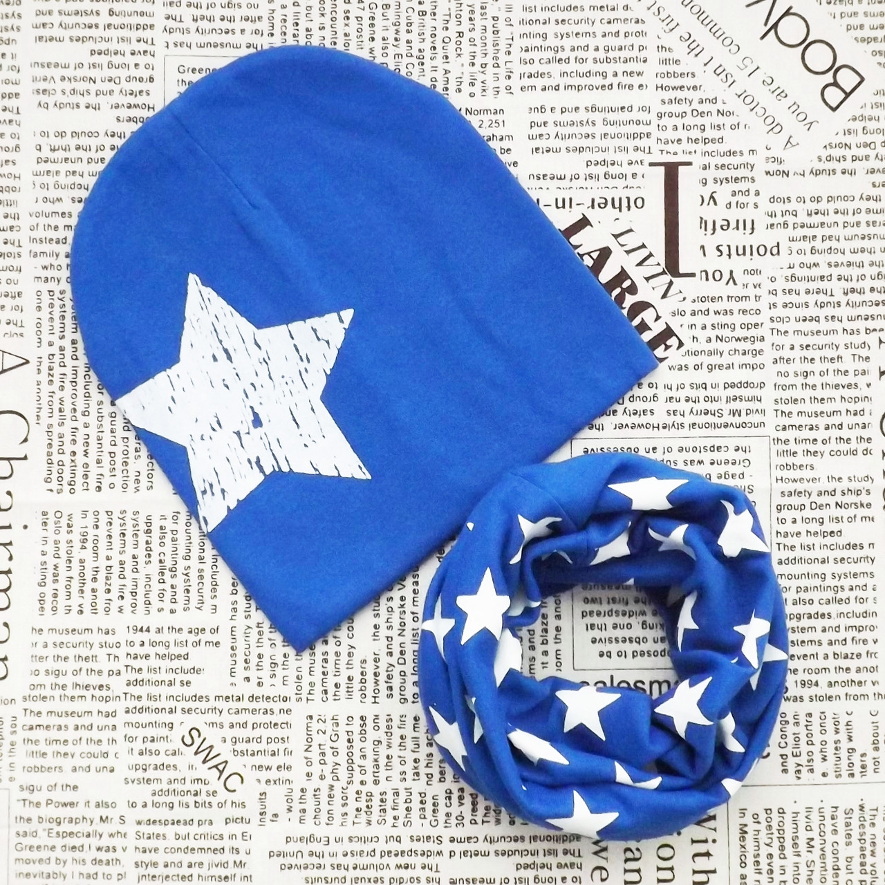 Комплект: дитяча шапка і хомут (071096)