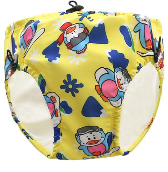 Дитячі непромокальні плавки для басейну Пінгвін Жовтий (11892)