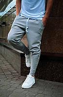 Брюки мужские светло серого цвета (серые) Asos, турецкие однотонные штаны зауженные к низу весна лето