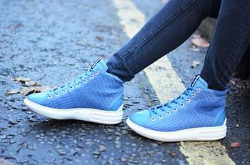 Кроссовки Ecco Soft Shoes синий 39 размер Индонезия original