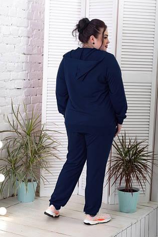 Спортивный костюм для пышных дам темно-синий, фото 2